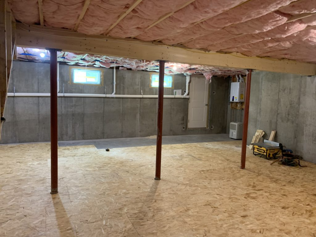 Before Unfinished Basement